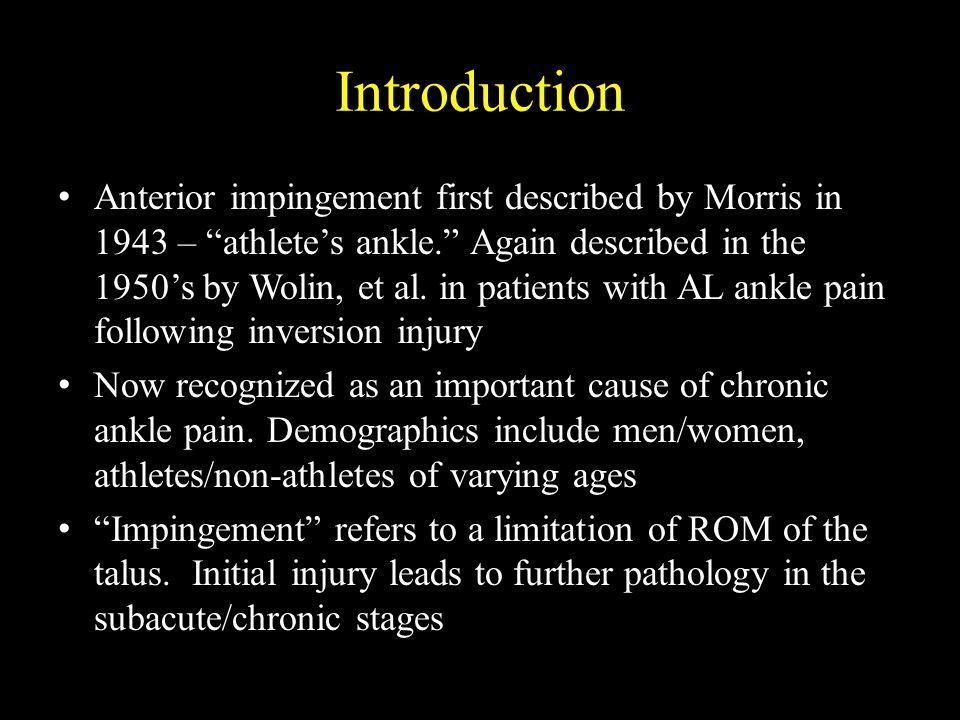 Ankle Impingement Anterior Anterolateral Anteromedial Posterior Posteromedial Posterolateral
