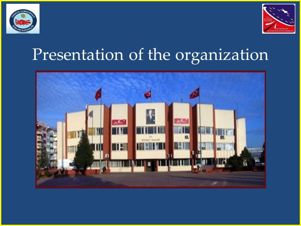 Presentation of the organization