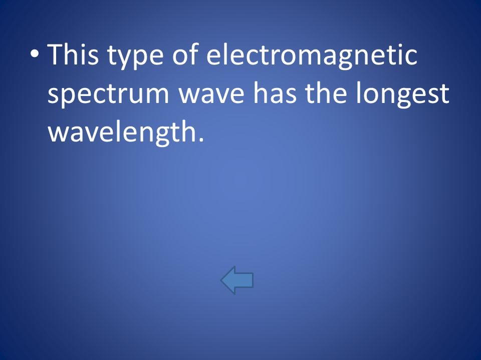 This type of electromagnetic spectrum wave has the longest wavelength.