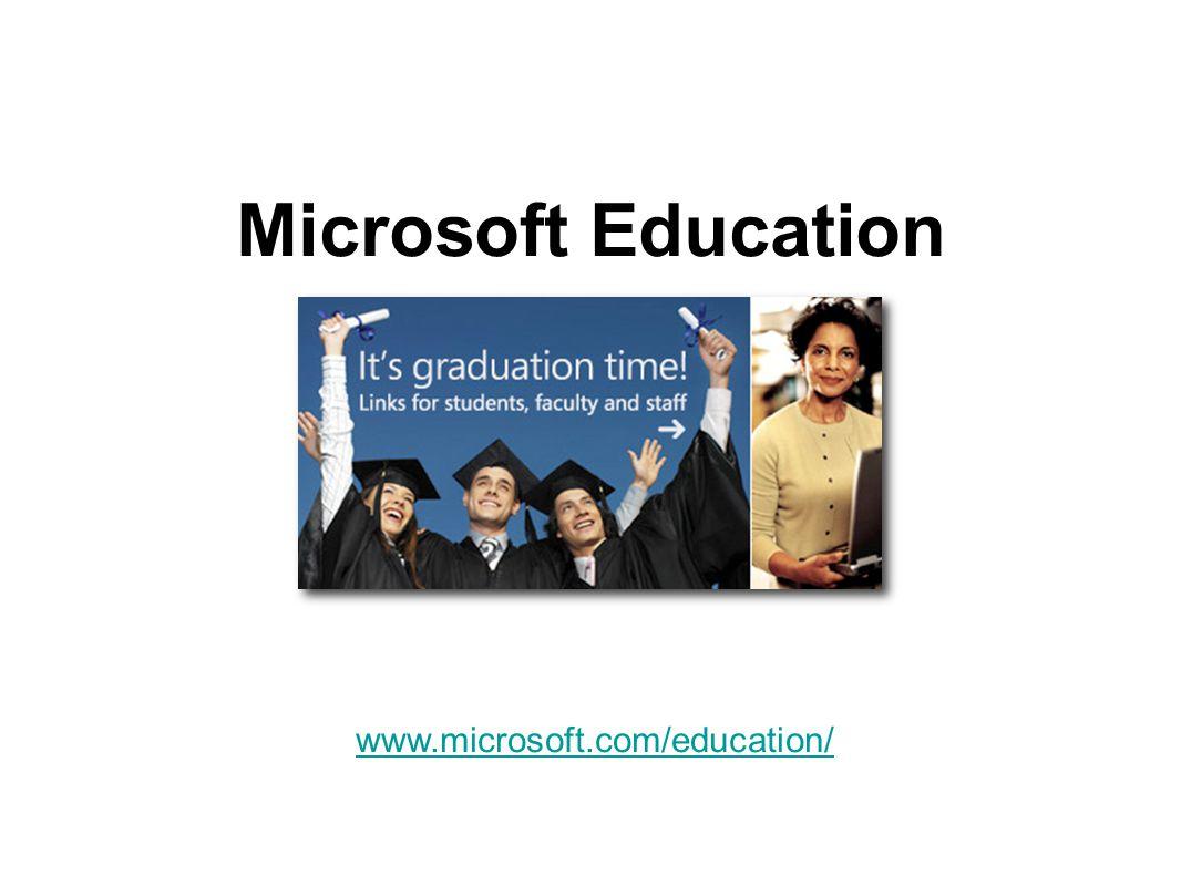 Microsoft Education www.microsoft.com/education/