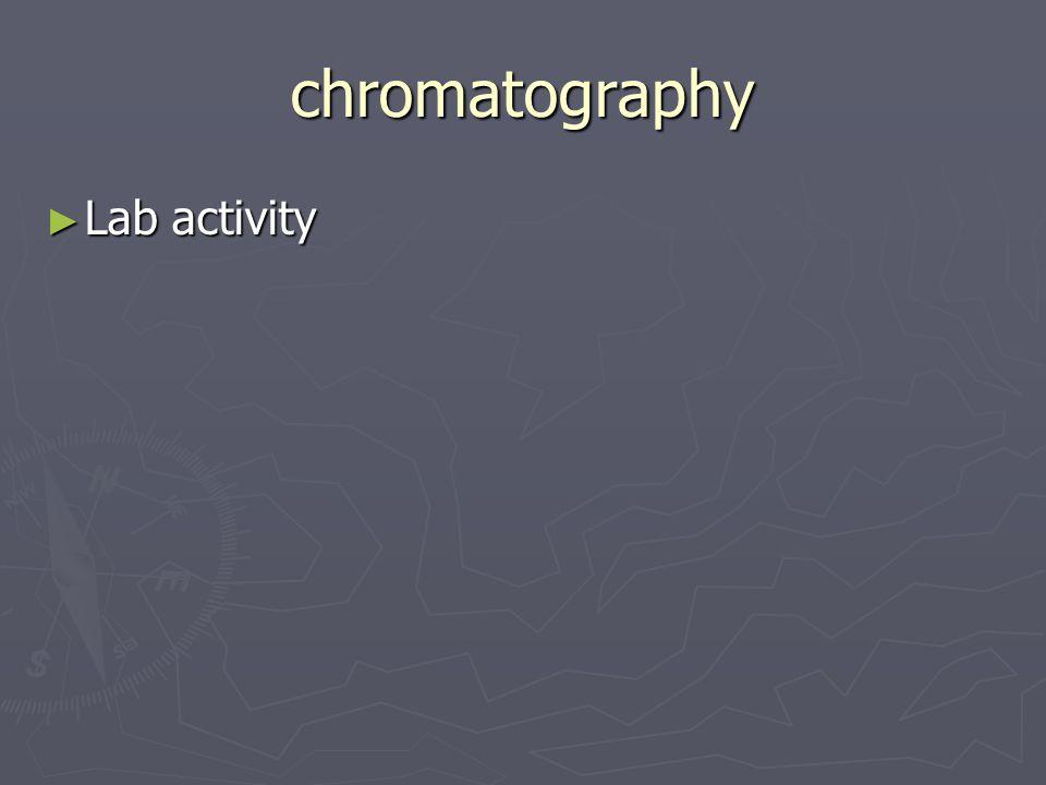 chromatography ► Lab activity