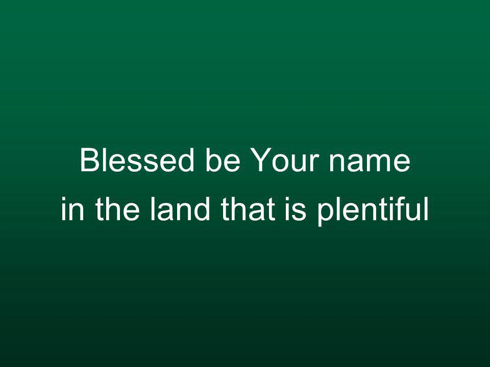 Where Your streams of abundance flow Blessed be Your name