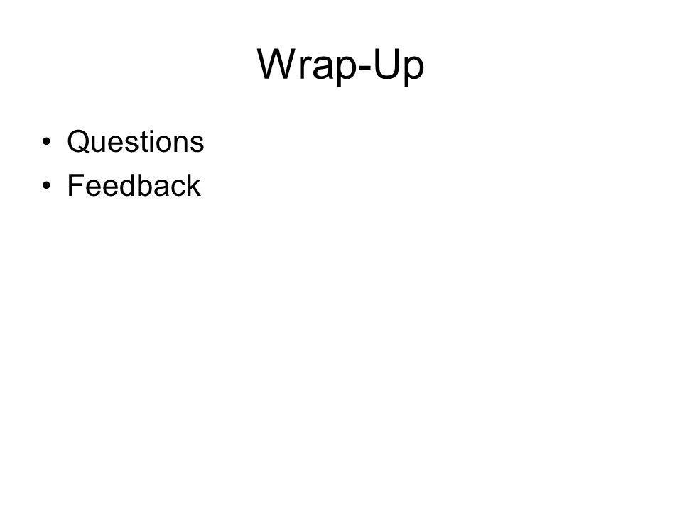 Wrap-Up Questions Feedback