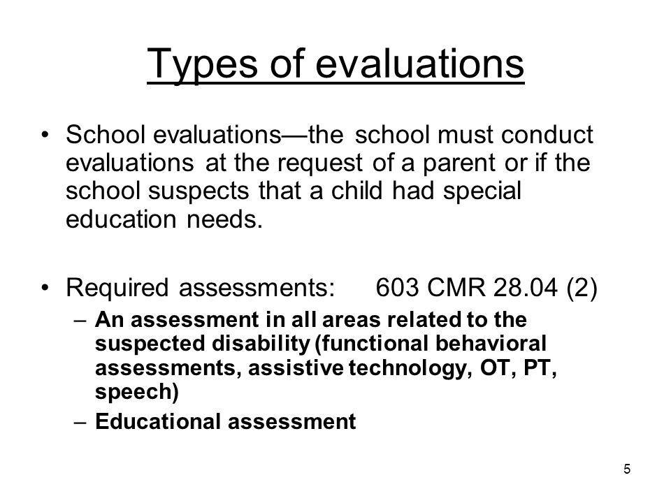16 IEP Development Key Evaluation and Summary Results Parent Concerns Vision Statement PLEP A & B --- Accommodations and Modifications (content, methodology, performance criteria) Goals---for each area requiring special education or related services AND short-term objectives or benchmarks Service Delivery Grid— Grid A (consultation and training), Grid B (services in the regular education classroom), Grid C (services out of the classroom—i.e., resource room, therapy room) Extended Day or Extended Year Transportation MCAS