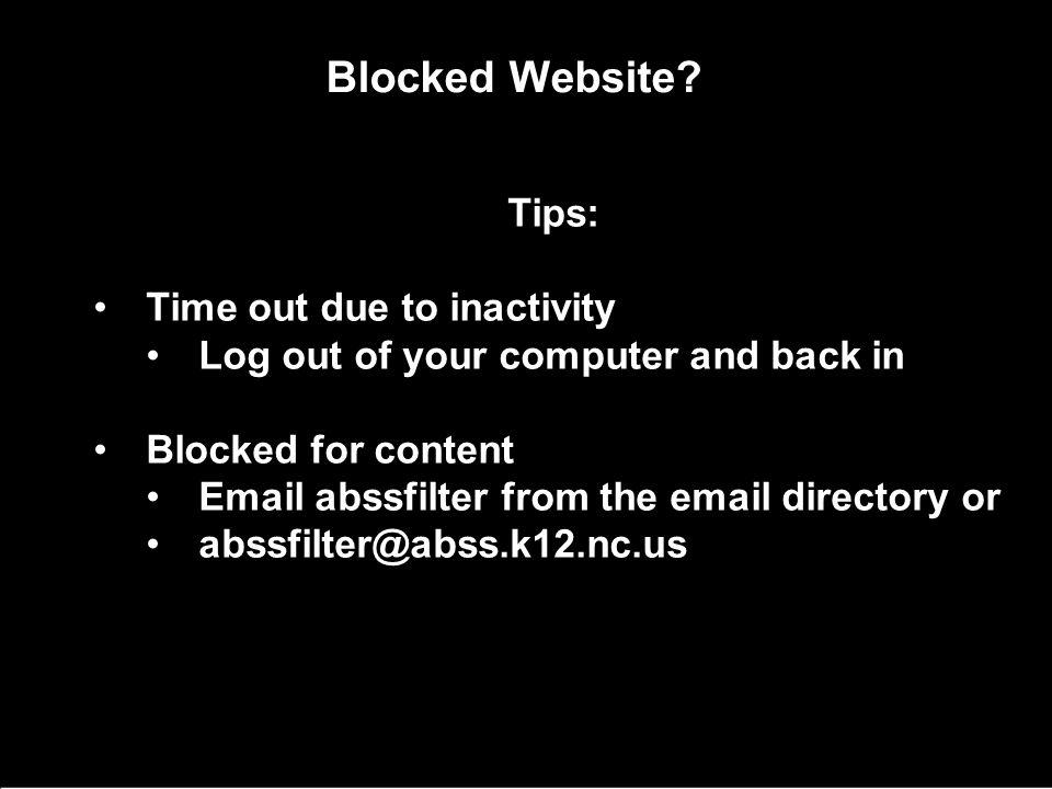 Blocked Website.