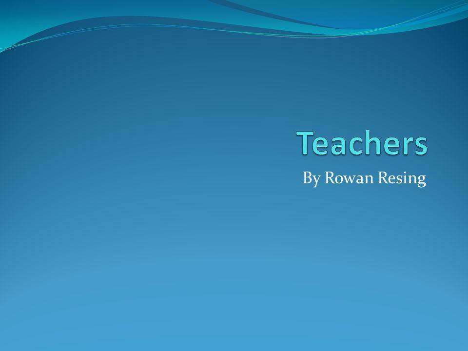 By Rowan Resing