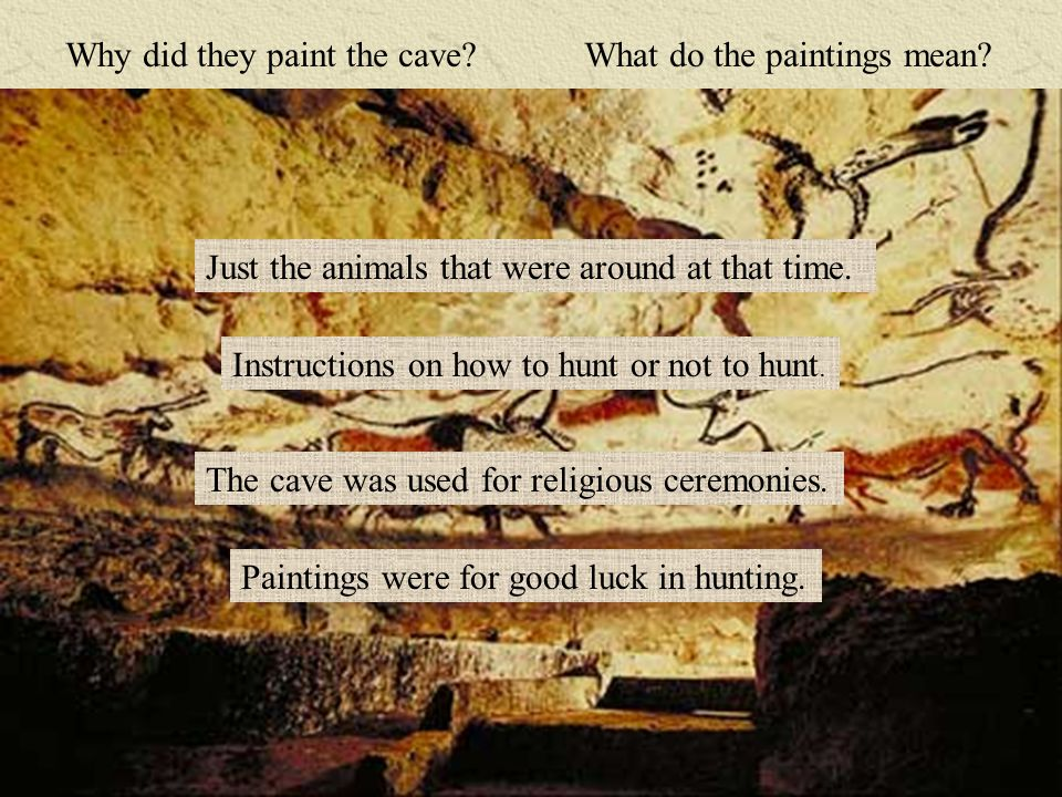 Why did they paint the cave. What do the paintings mean.