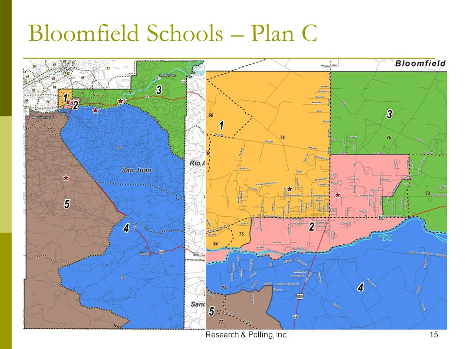 Research & Polling, Inc.15 Bloomfield Schools – Plan C