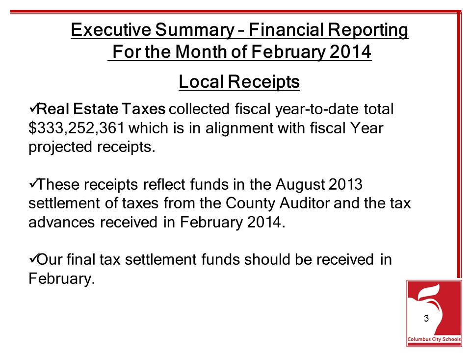 Real Estate Taxes collected fiscal year-to-date total $333,252,361 which is in alignment with fiscal Year projected receipts.