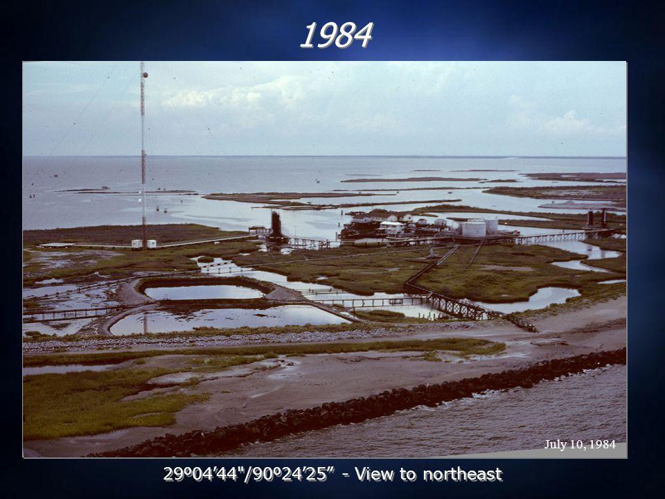 September 30, 2005 2005 post-Hurricane Katrina 29 º 04 ' 44 /90 º 24 ' 25 - View to northeast