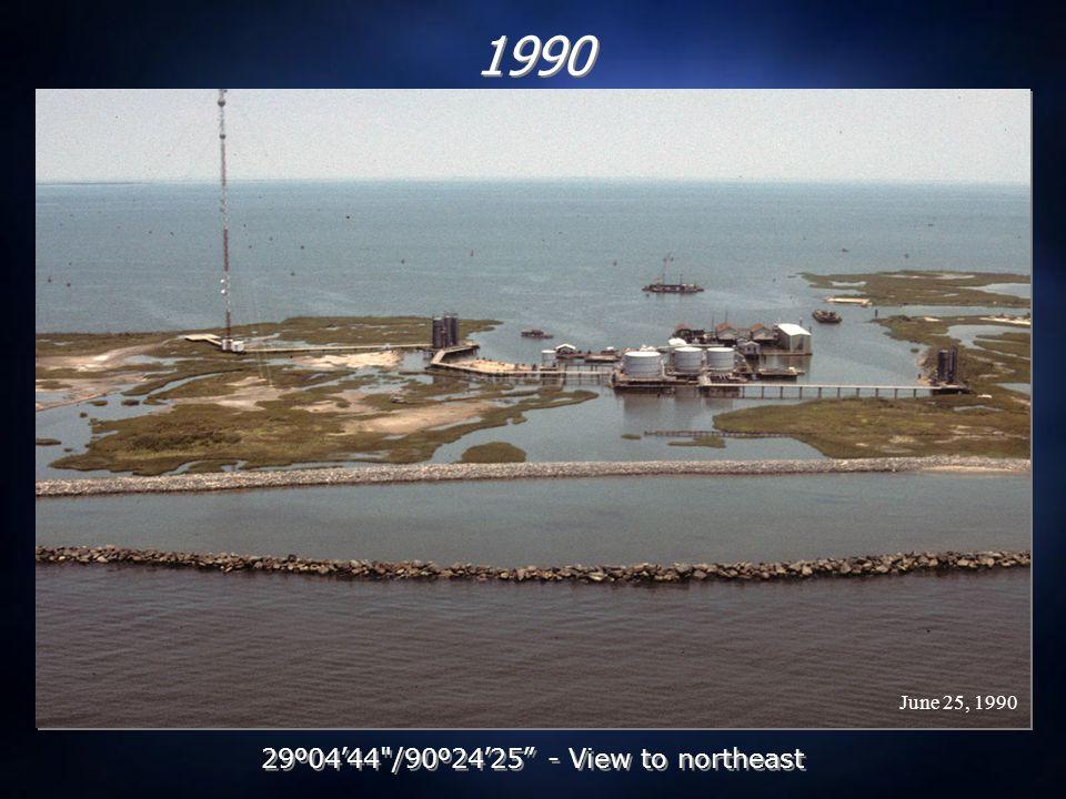 July 9, 1992 1992 29 º 04 ' 44 /90 º 24 ' 25 - View to northeast
