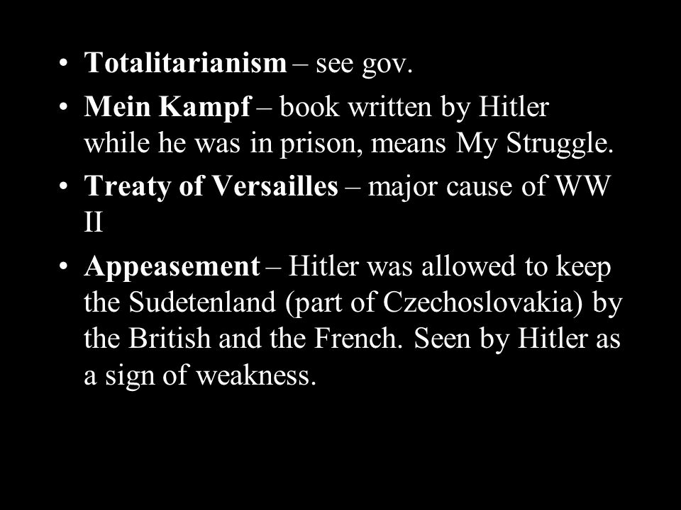 Totalitarianism – see gov.