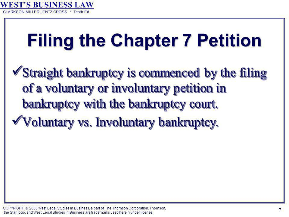 COPYRIGHT © 2006 West Legal Studies in Business, a part of The Thomson Corporation.