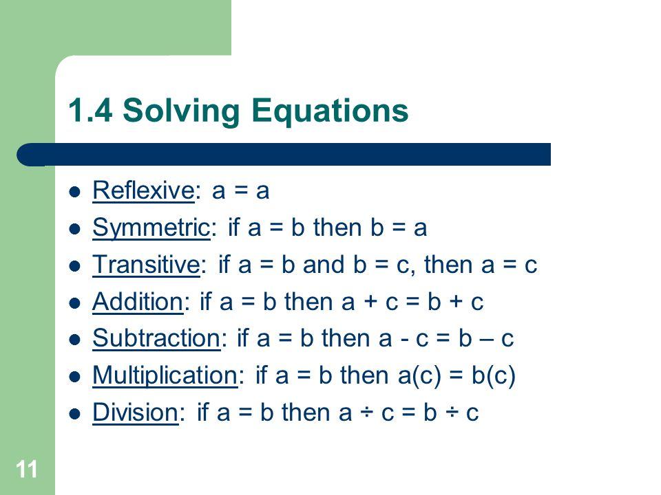 1.3 Algebraic Expressions 7. –(x + 4y) + 5(3x – y) – x – 4y + 15x – 5y 14x – 9y Assign pgs: 22 – 23, #10 – 19, 20 – 26 even, 30 – 44 even, 52 (23 prob