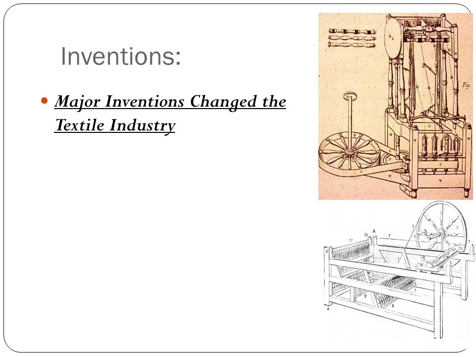Inventions: Major Inventions Changed the Textile Industry