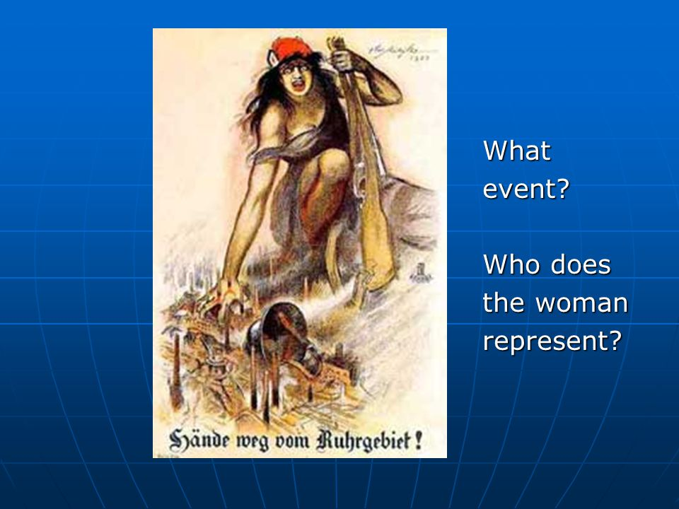 Whatevent? Who does the woman represent?
