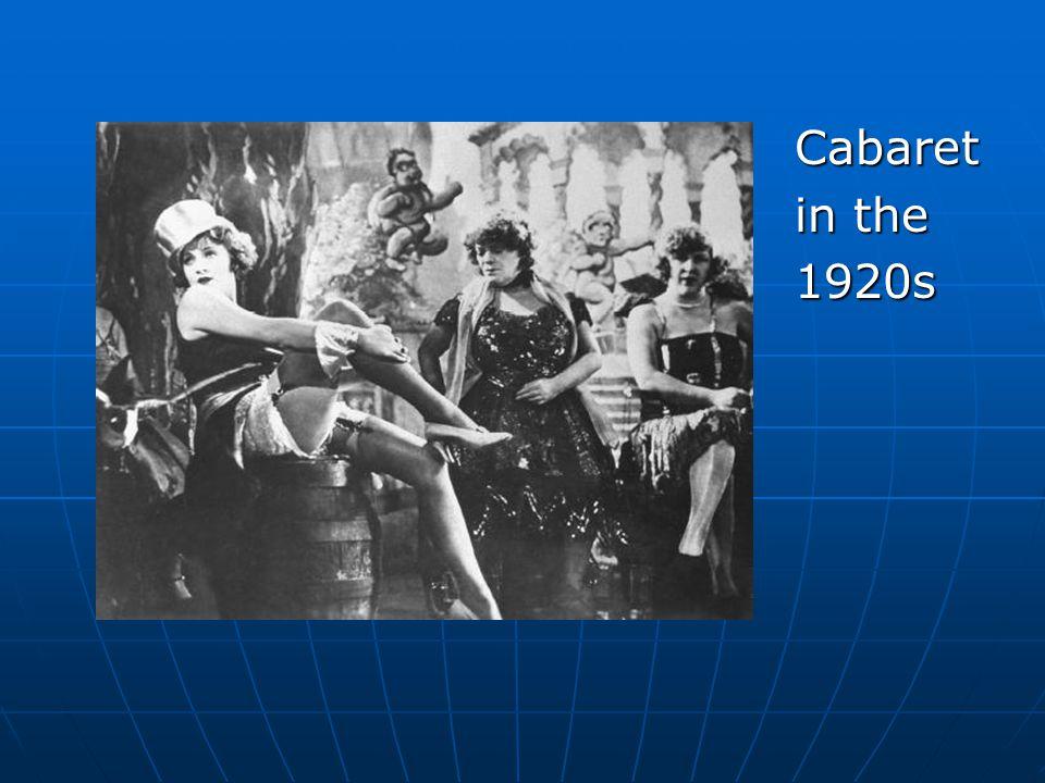 Cabaret in the 1920s