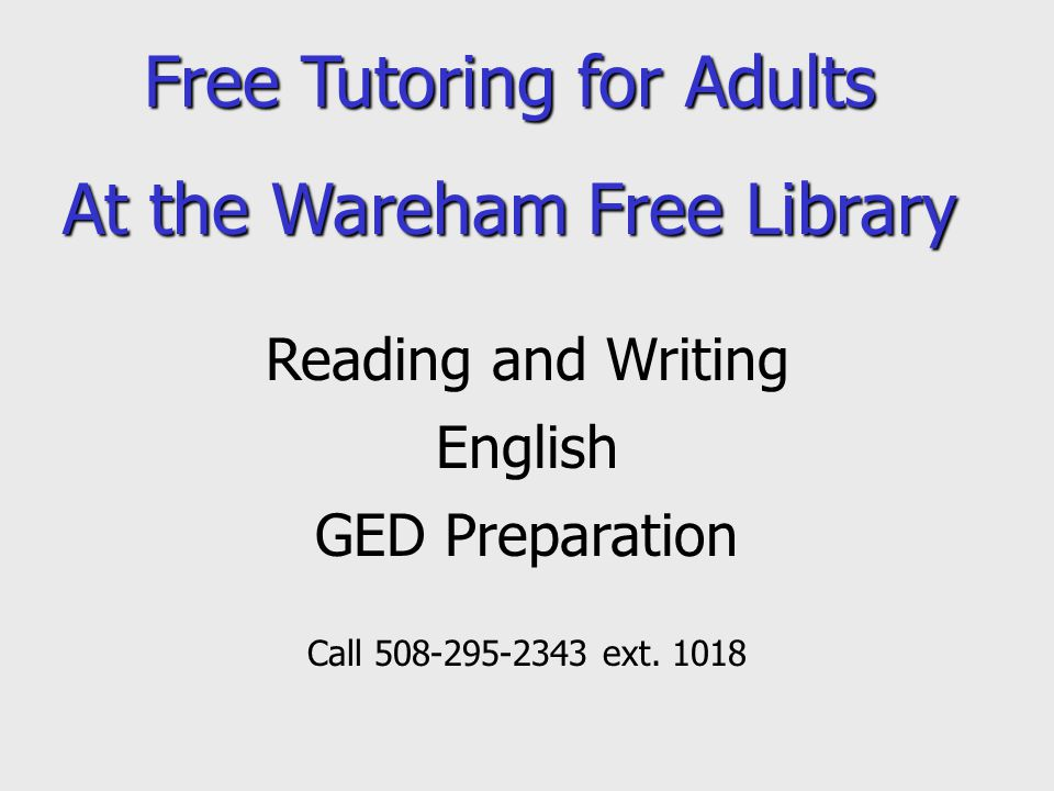Wareham Free Library Book Delivery to Homebound Patrons If you or someone you know are in need of having library materials delivered, because of a disability or injury, please call 508-295-2343 ext.1011