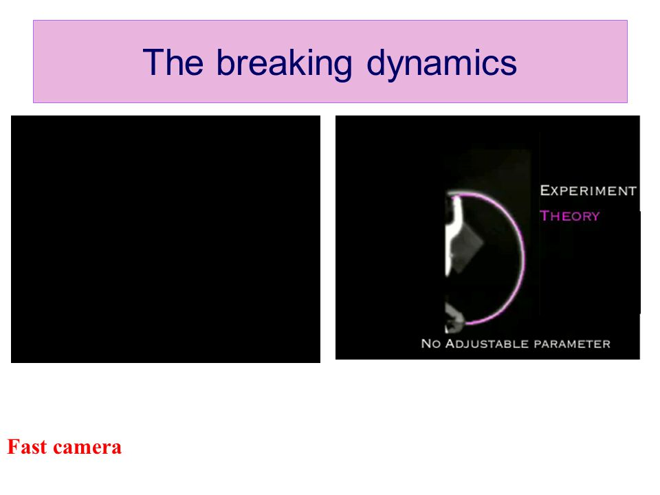 The breaking dynamics Fast camera