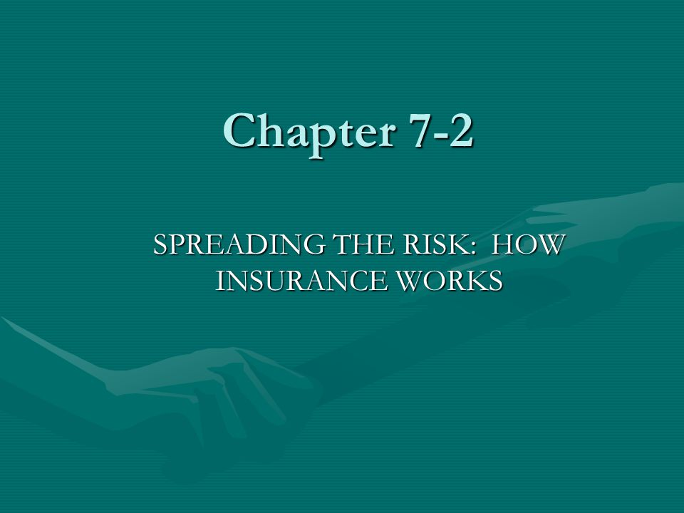 Chapter 7-2 SPREADING THE RISK: HOW INSURANCE WORKS