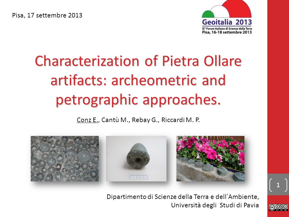 Characterization of Pietra Ollare artifacts: archeometric and petrographic approaches.