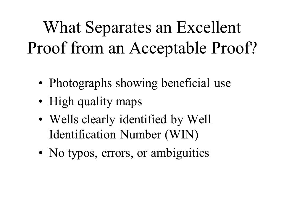 What Separates an Excellent Proof from an Acceptable Proof.