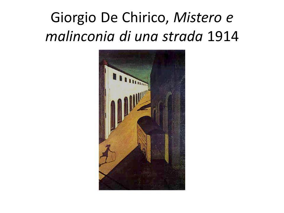Giorgio De Chirico, Mistero e malinconia di una strada 1914