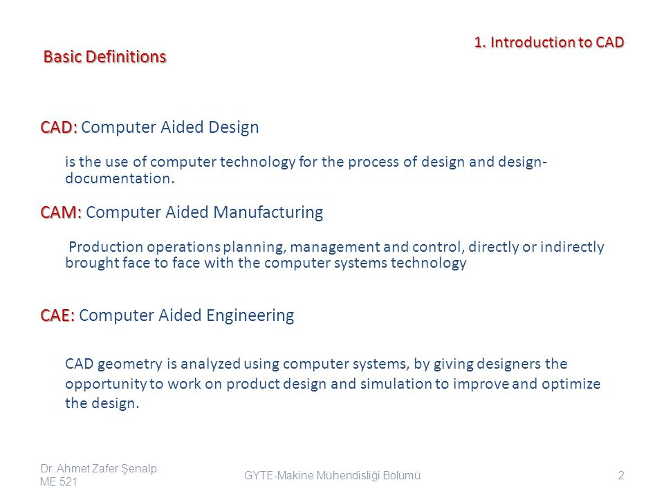 1.Introduction to CAD 1.