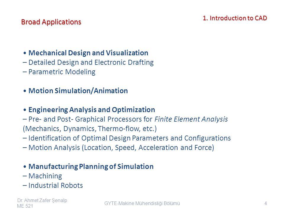 Sheet Metal Forming Simulation Dr.Ahmet Zafer Şenalp ME 521 55 GYTE-Makine Mühendisliği Bölümü 1.