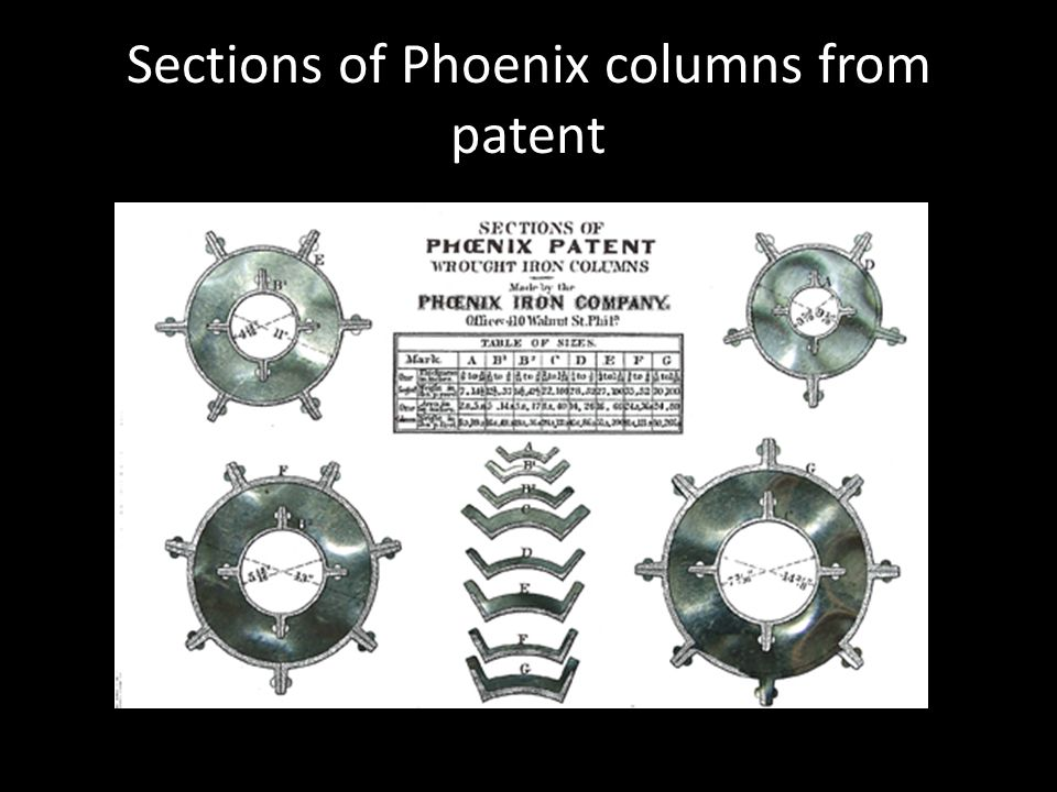 Sections of Phoenix columns from patent
