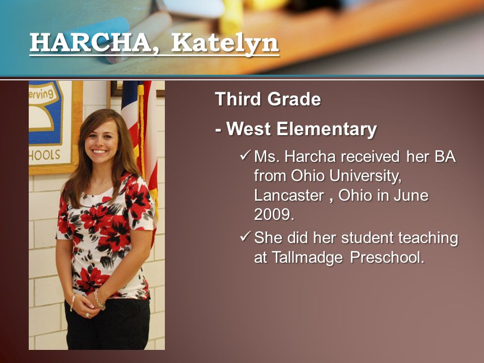 Third Grade - West Elementary Ms.