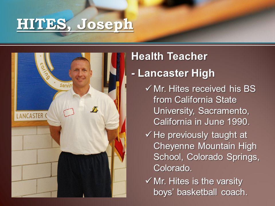Health Teacher - Lancaster High Mr.