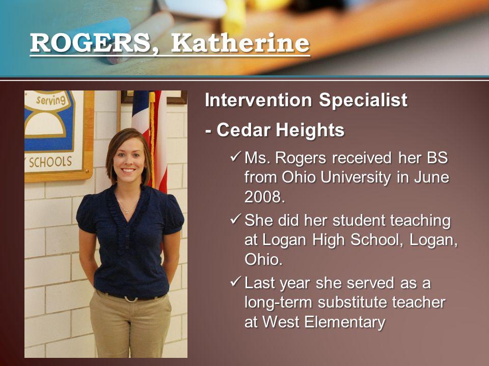 Intervention Specialist - Cedar Heights Ms.