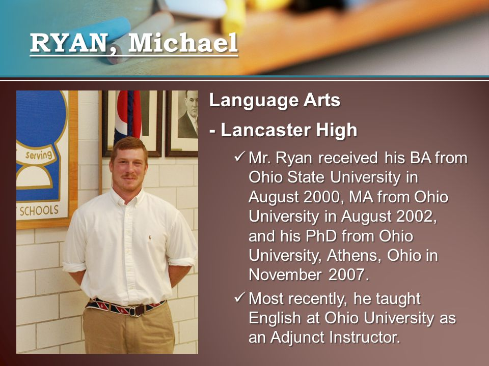 Language Arts - Lancaster High Mr.
