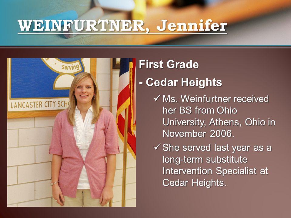 First Grade - Cedar Heights Ms.