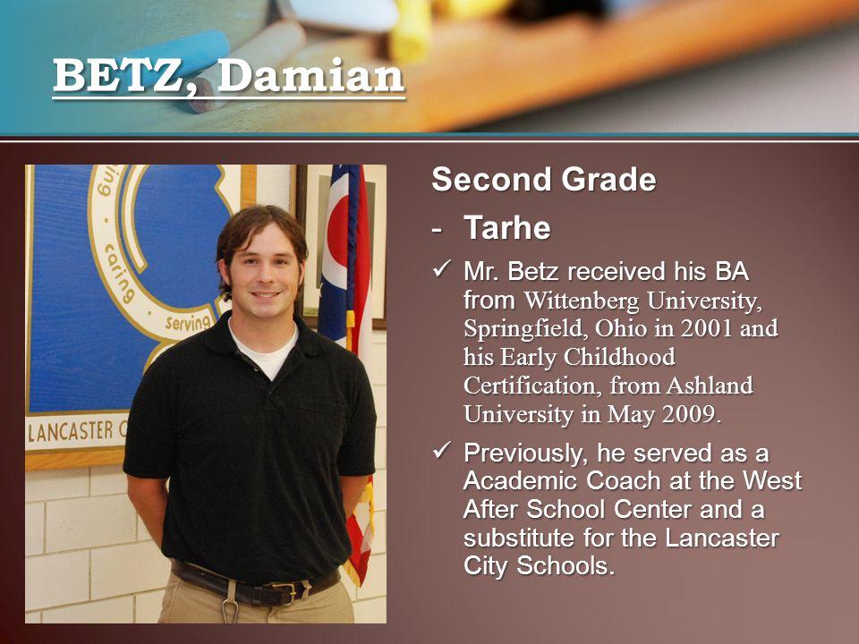 Second Grade -Tarhe Mr.