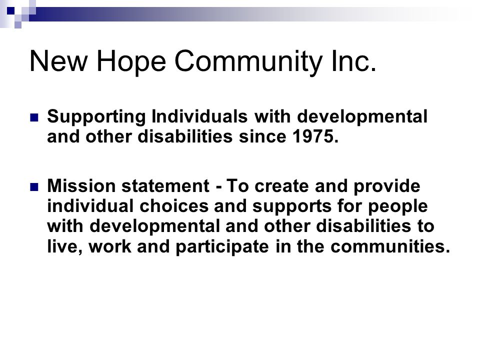 New Hope Community Inc.