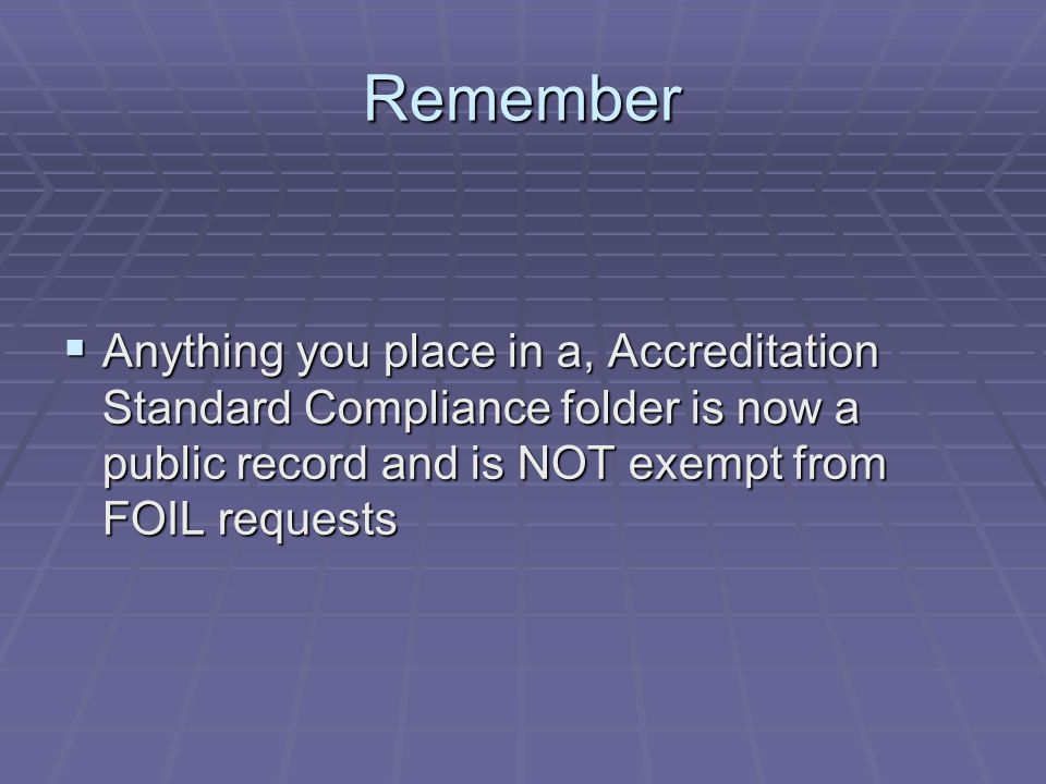 STANDARD 8.6The agency has an administrative reporting program which preserves the daily records of agency activities.