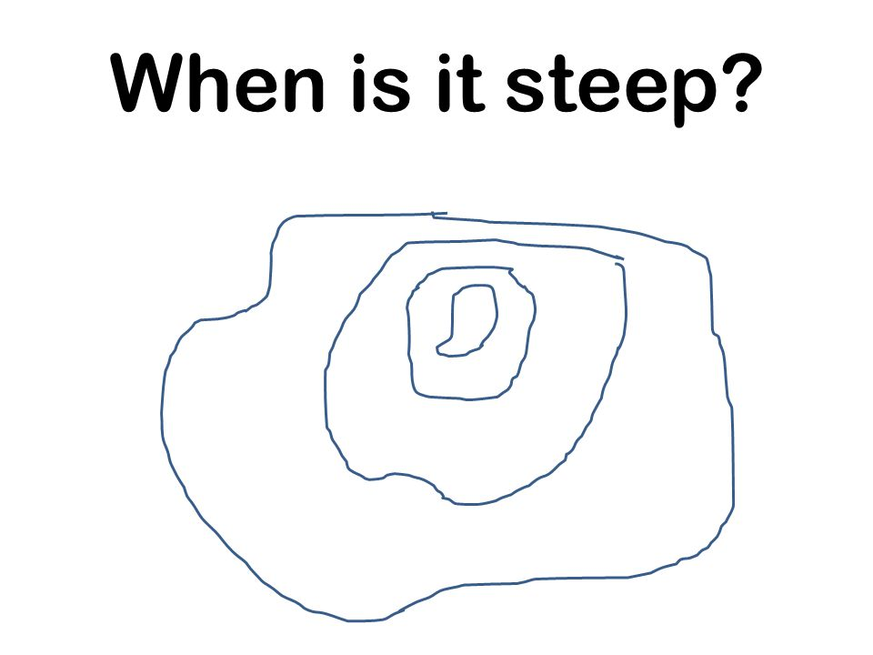 When is it steep?