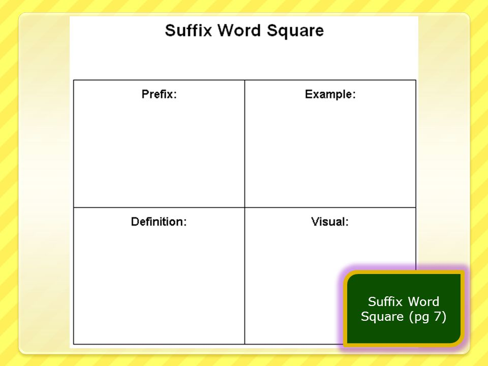 Suffix Word Square (pg 7)
