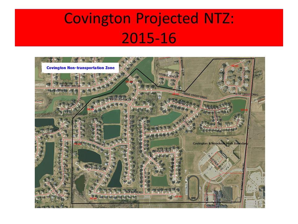 Covington Projected NTZ: 2015-16