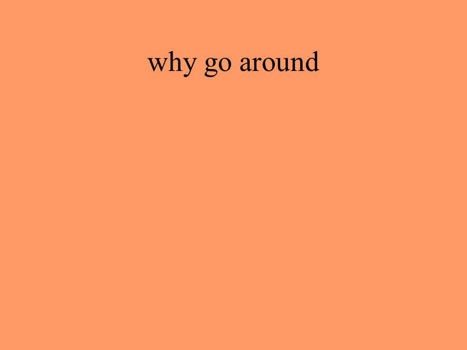 why go around