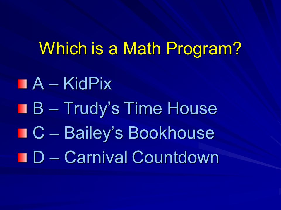 Which is a Math Program.