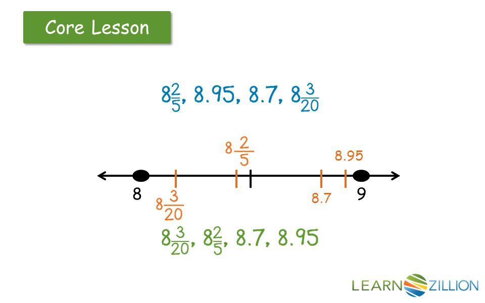 Core Lesson 89 8.7 8.95
