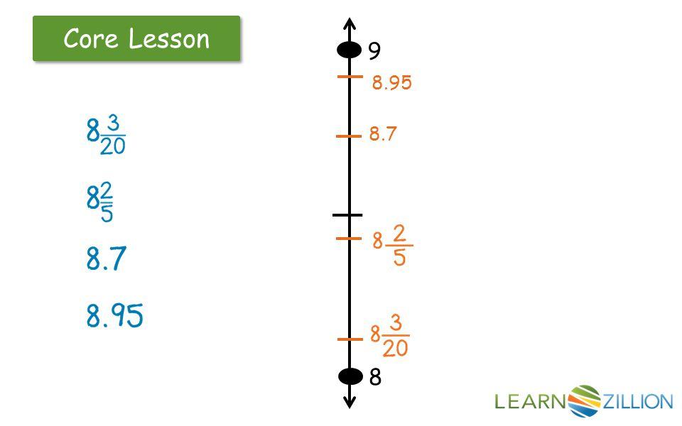 Core Lesson 8 9 8.7 8.95