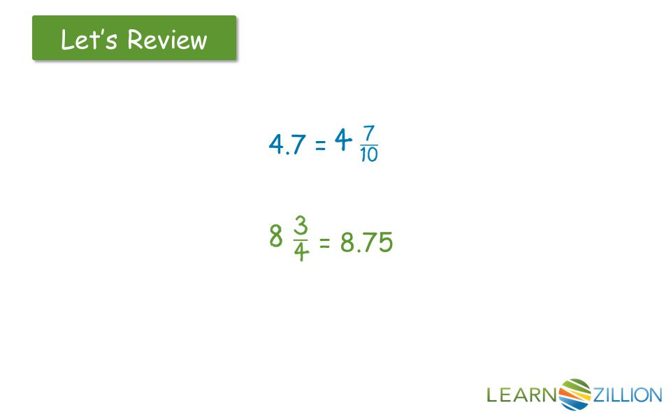 Let's Review 4.7 = = 8.75