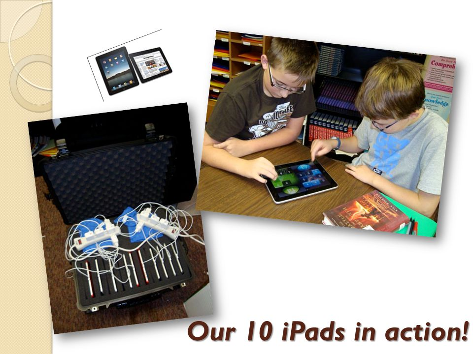 Our 10 iPads in action!