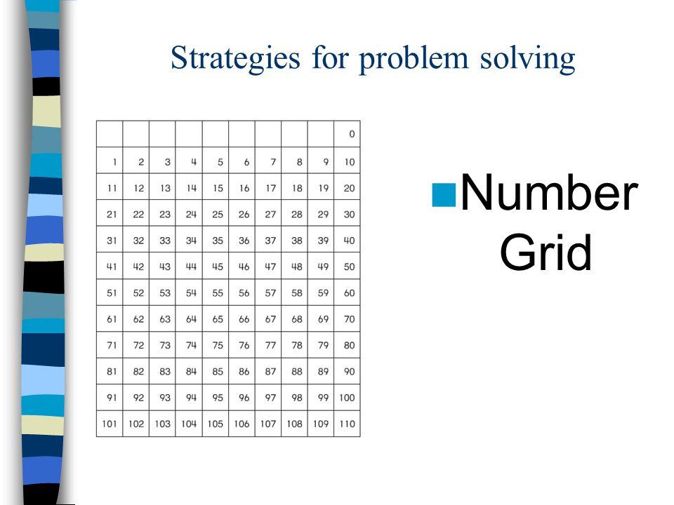 Strategies for problem solving Number Grid