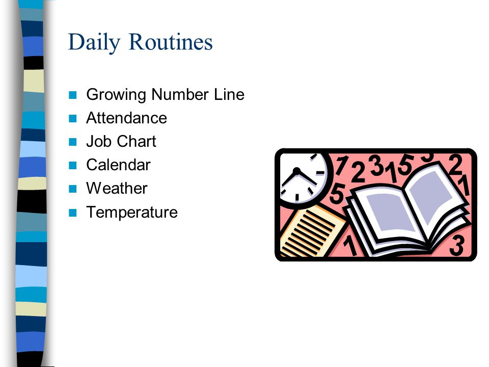 Daily Routines Growing Number Line Attendance Job Chart Calendar Weather Temperature