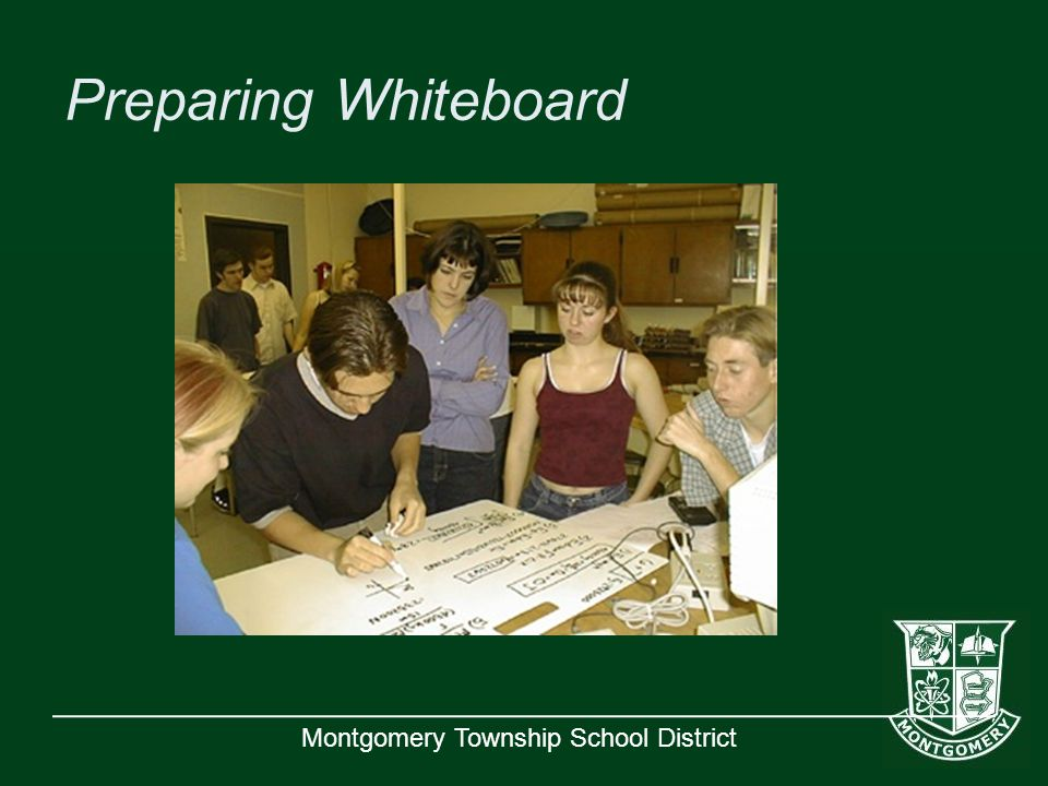 Montgomery Township School District Preparing Whiteboard